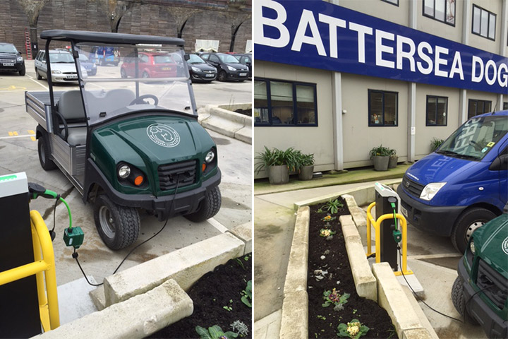 Utility Vehicle Charging at Battersea Dogs Home